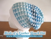 Birds of a Feather slouch hat - Free Crochet Pattern