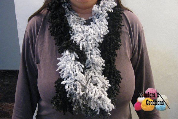 Free Crochet Pattern For Boa Scarf : Meladoras Creations Crocheted Boa Scarf ? Free Crochet ...