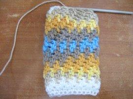 Brick Stitch finger less gloves 6