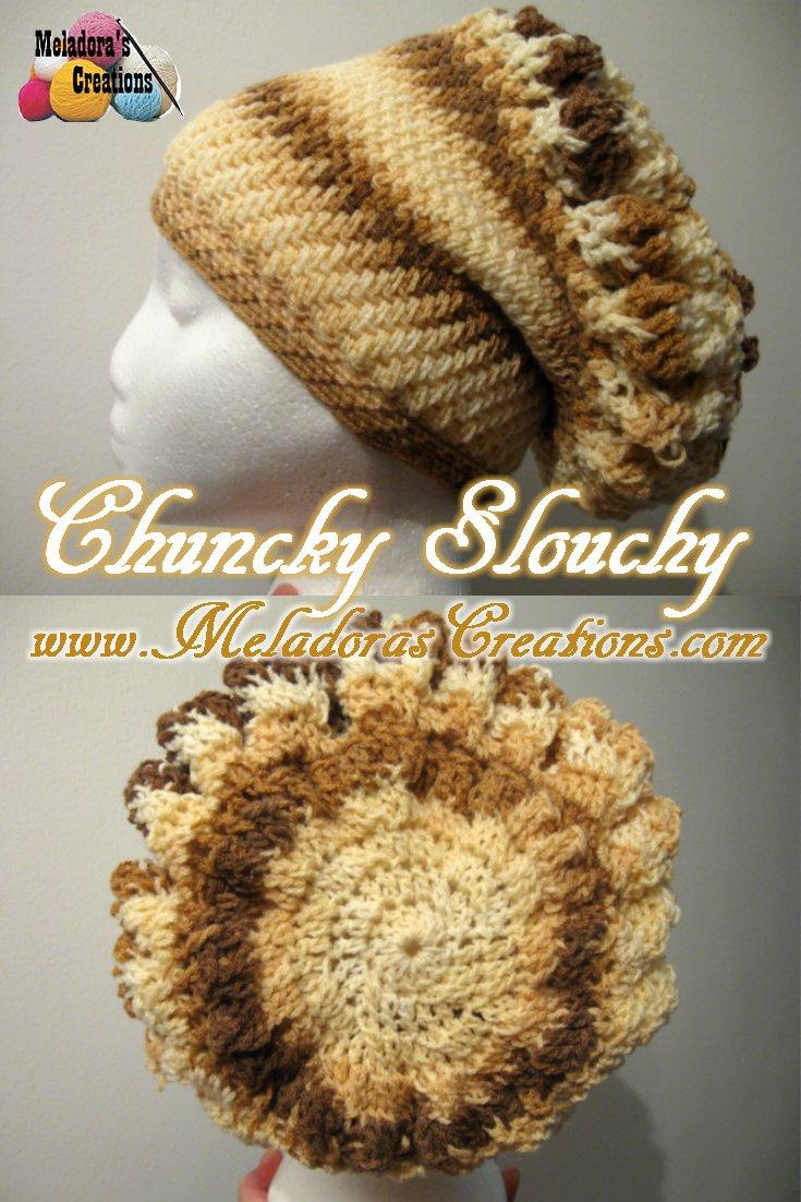 Chunky Slouchy Beret - Free Crochet Pattern