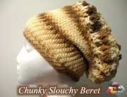 Chuncky Slouchy Beret Display 600 WM
