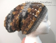 Cluster Stitch Slouch hat 1 -1