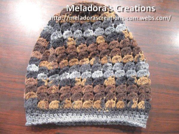 Cluster Stitch Slouch Hat - Free Crochet Pattern