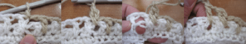 Combined brick stitch gloves 2