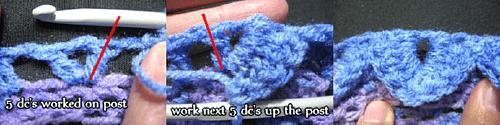 Combined croc stitch