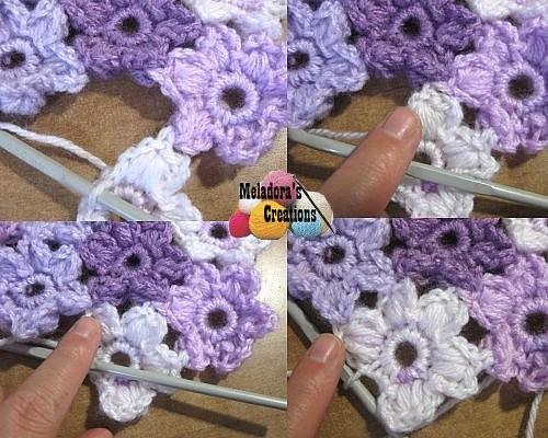 Meladora S Creations Puff Flower Heart Motif Free