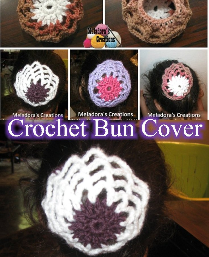 Crochet Bun Cover pintertest