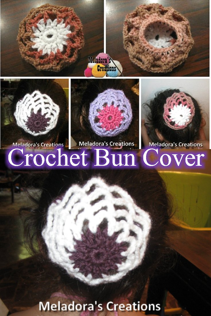 Book Cover Crochet Hair : Meladora s creations crocheted hair bun cover free
