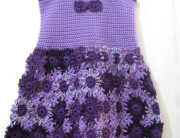 Crochet Flower Dress Front -1