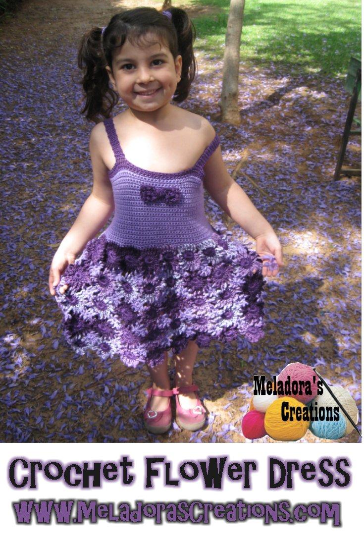 Crochet Flower Dress - Free Crochet Pattern