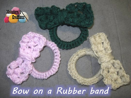 Bow On A Rubber Band Free Crochet Pattern