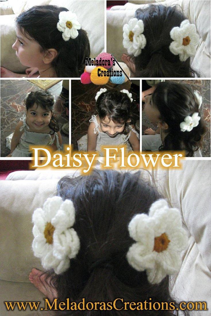 Crochet Daisy Barrette - Free Crochet Pattern