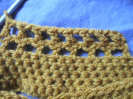Crocheted Mesh Twirly Headcover 2