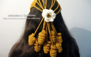Crocheted Mesh Twirly Headcover 23 -1
