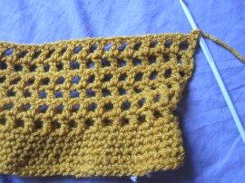 Crocheted Mesh Twirly Head Cover - Free Crochet Pattern