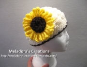 Crocheted Sunflower finished 1 -1