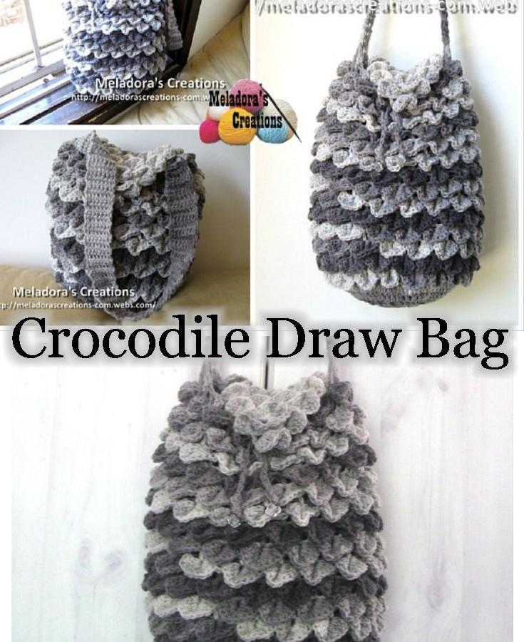 Free Crochet Pattern Crocodile Stitch Bag : Meladoras Creations crocodile stitch
