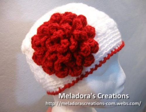 Flat Rose Flower – Free Crochet Pattern and Video tutorials