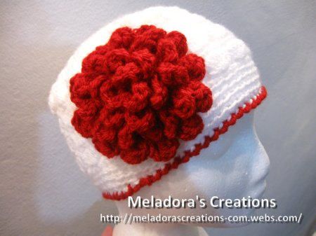 Flat Rose Flower Free Crochet Pattern Meladoras Creations