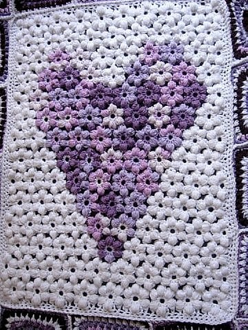 Flower Afghan Grannies Free Crochet Pattern