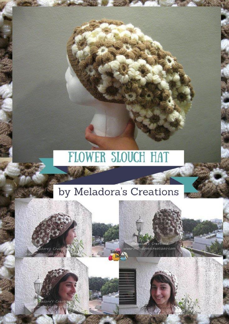 Flower Slouch Hat - Free Crochet Pattern