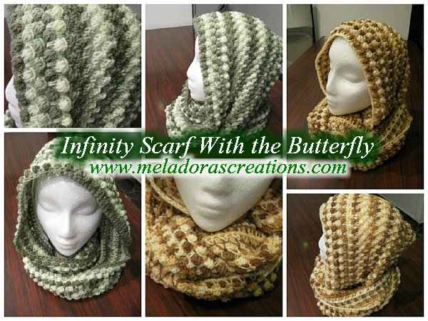 Meladoras Creations Infinity Scarf Butterfly Stitch - Free Crochet ...