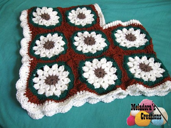 Meladora\'s Creations – Child Granny Square Poncho – Free Crochet Pattern