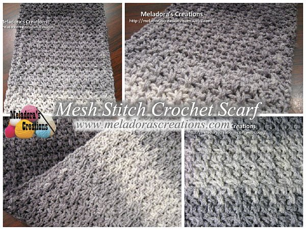 Mesh scarf combo