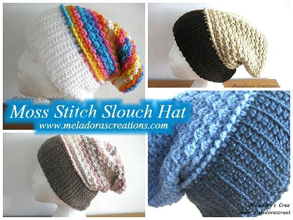 Moss Stitch Slouch Hat - Free Crochet Pattern c8288531d6c