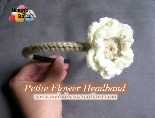 Petite Flower Headband – Free Crochet Pattern