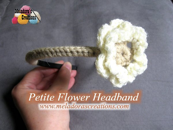 Petite Flower Headband Free Crochet Pattern