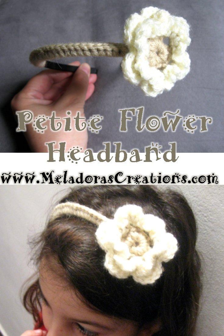 Petite Crochet Flower Headband Pattern - Free Crochet Pattern