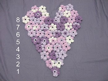 Puff Flower Heart dimentions small
