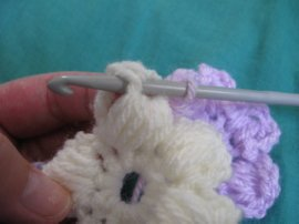 Puff stitch Flower Scarf 6 -1