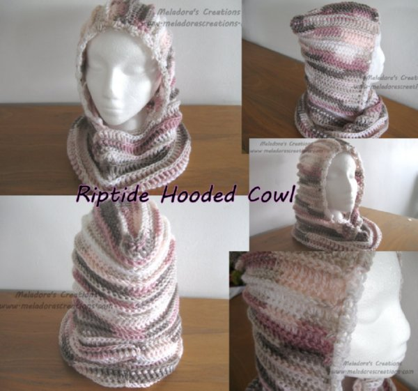 Meladoras Creations Riptide Hooded Cowl Free Crochet Pattern