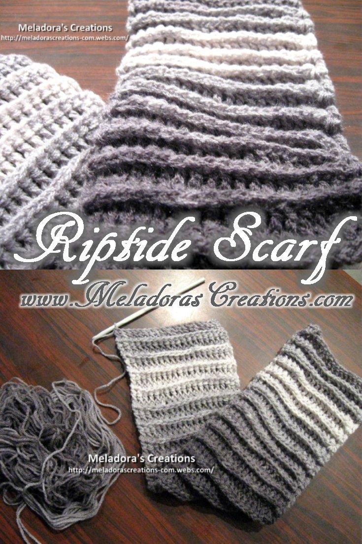 Riptide Crochet Scarf - Free Crochet pattern