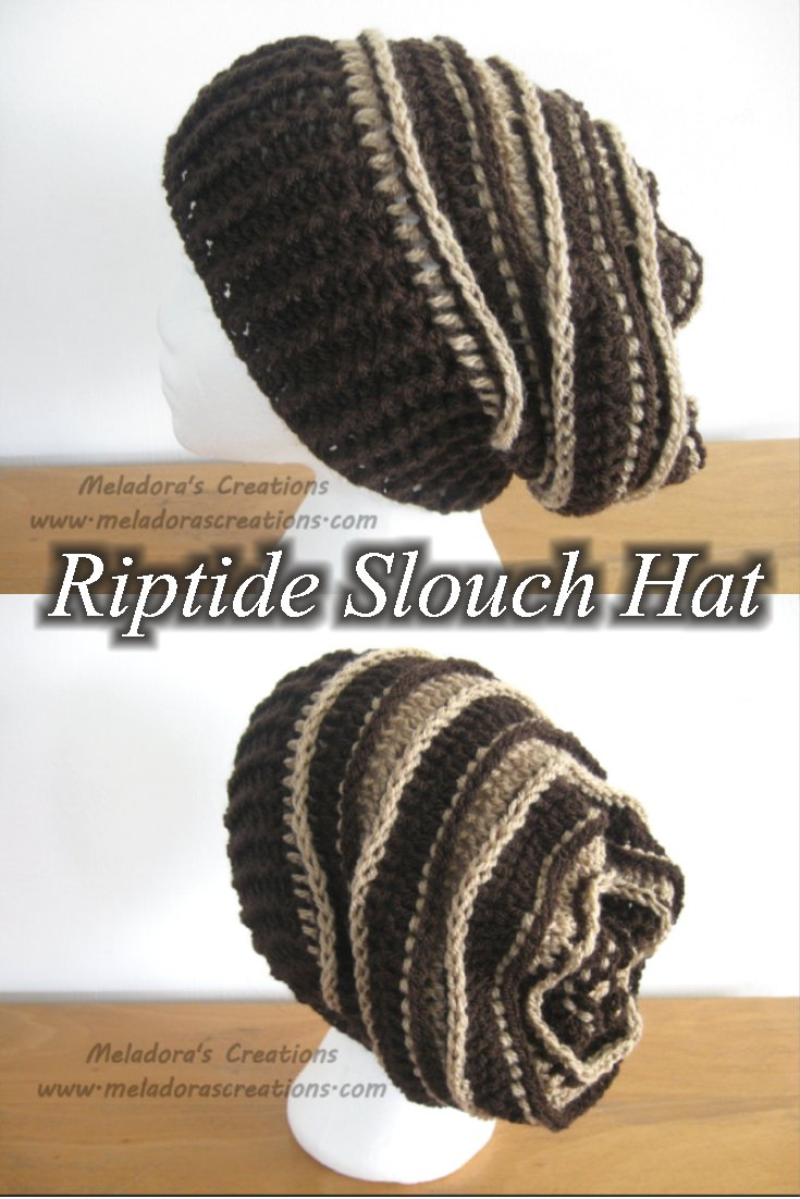 Meladora\'s Creations – Riptide Slouch Hat – Free Crochet Pattern