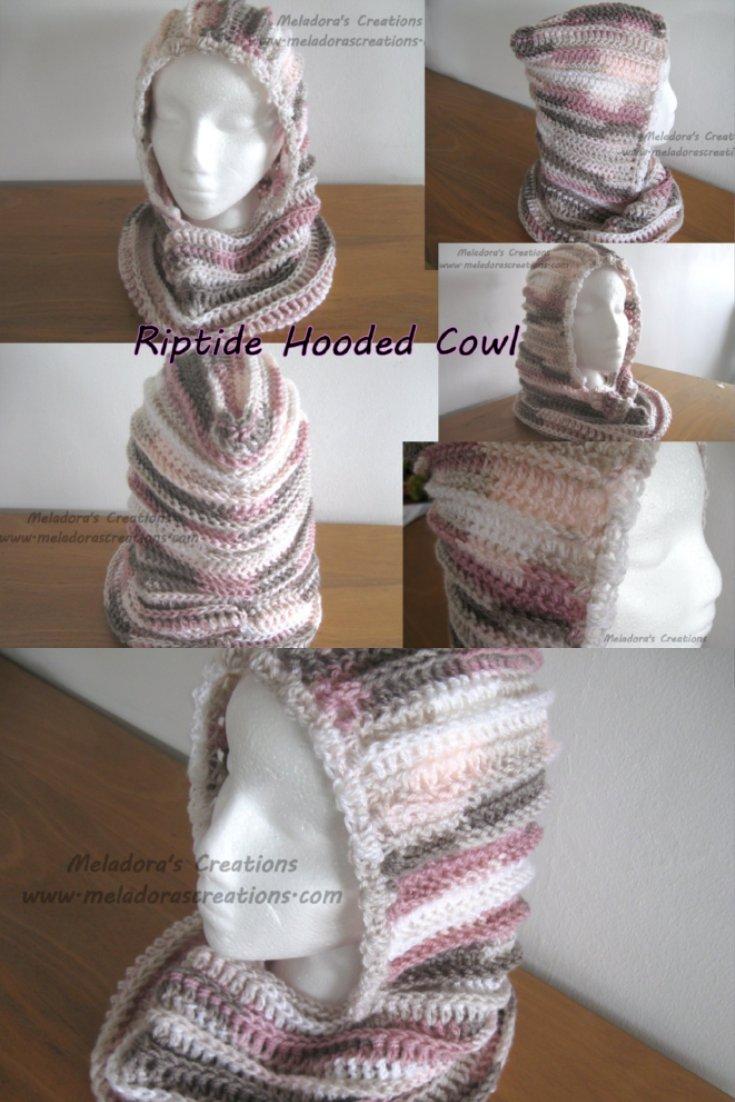 Riptide Hooded Cowl - Free Crochet Pattern