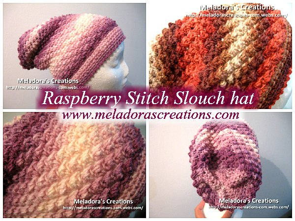 Raspberry Stitch Slouch Hat - Free Crochet Pattern