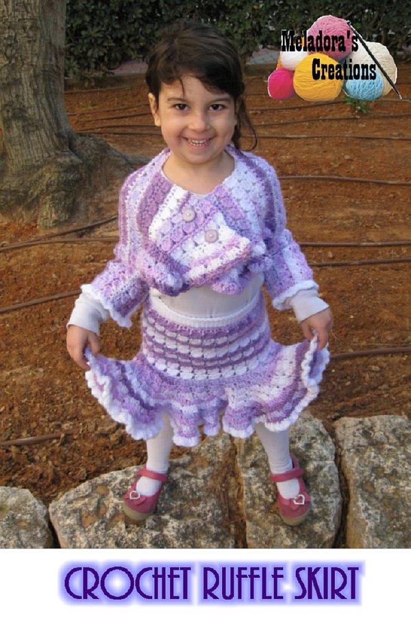 Crocheted Ruffle Skirt Free Crochet Pattern