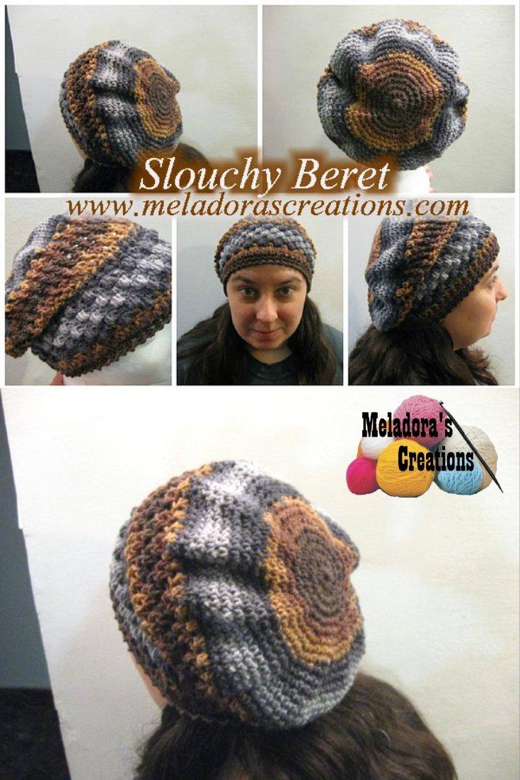 Meladora\'s Creations – Slouchy Beret – Free Crochet Pattern