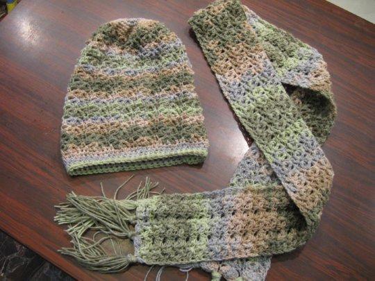 Star Fish Stitch Scarf Free Crochet Pattern