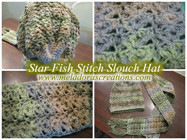 Crochet Star Stitch Hat Free Pattern : Meladoras Creations Star Fish Stitch Slouch Hat ? Free ...