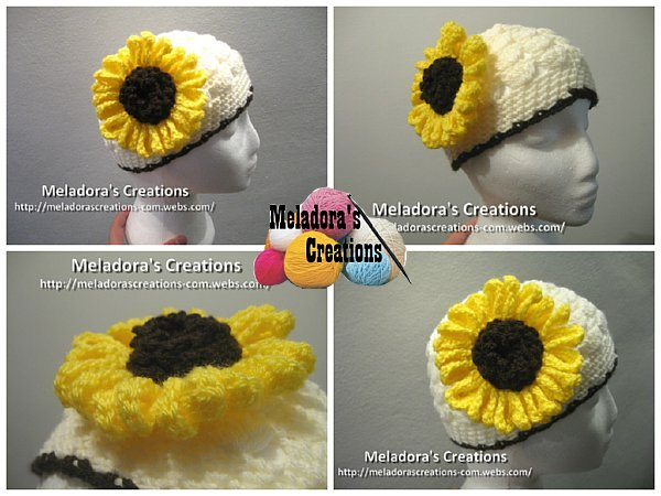 Crocheted Sunflower Free Crochet Pattern