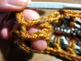 Thick crochet mesh Pot holder 11