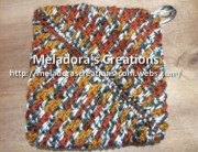 Thick crochet mesh Pot holder 19 youtube pic 2