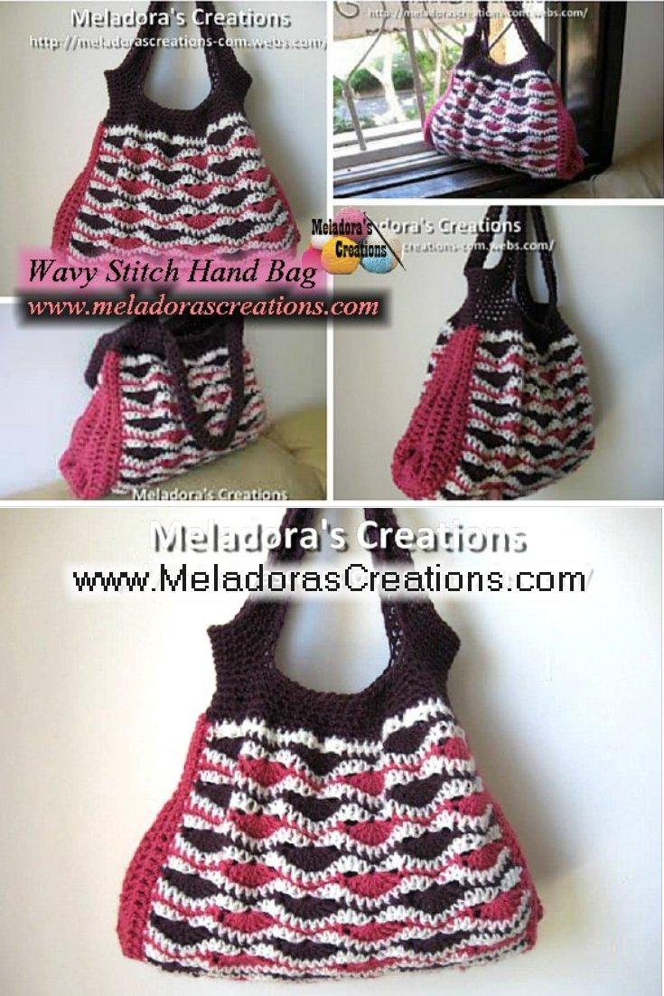 Wavy Stitch Handbag - Free Crochet Pattern