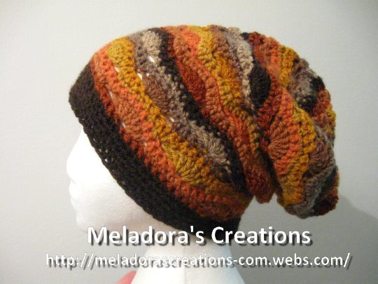 Wavy Stitch Slouch Hat finished 4 web pic