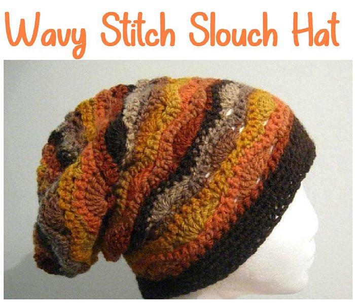 Crochet Wavy Stitch Slouch Hat - Free Crochet Pattern