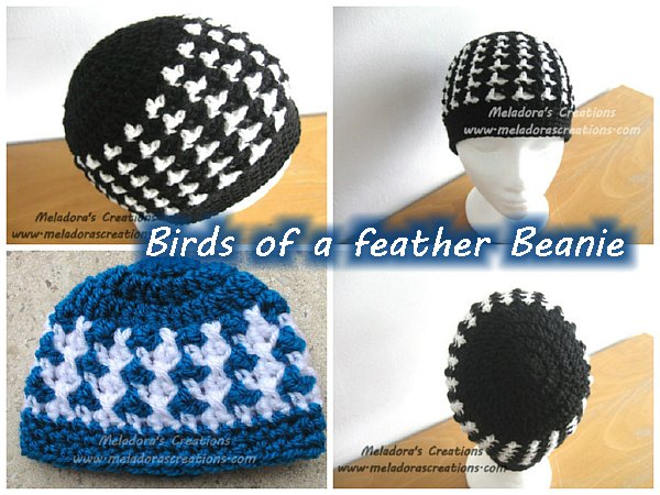 Meladoras Creations Birds Of A Feather Beanie All Sizes Free
